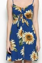 Blue Sunflower Dress