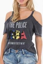 Police Colder-shoulder T-shirt
