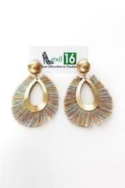 Thread Fringe Earrings