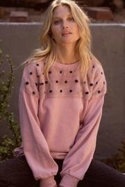 Mauve Fur Sweatshirt