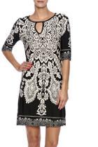 Black White Pattern Dress