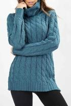 Cable-knit Turtle-neck Sweater