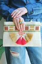 Colorful Tassel Clutch