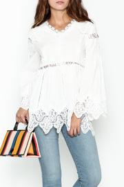 White Lace Accent Top