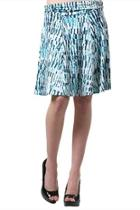Patterned Ruched-waist Skirt