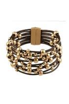 Brown Wide-beaded Bracelet