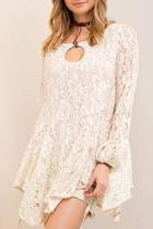 Lace A Line Tunic Top