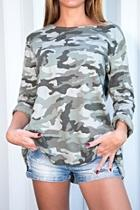 Long-sleeve Camouflage Top