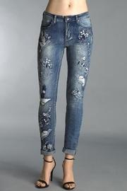 Dove Embroidered Jeans