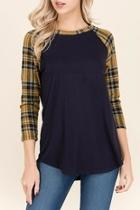 Plaid Colorblock Top