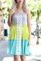 Color Block Lace Dress