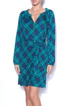 Emerald Plaid Dress