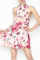 Floral Highneck Dress