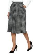 Polka Dot Pleat Skirt
