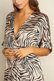 Zebra Faux Wrap Dress