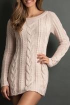 Boyfriend Cableknit Sweater