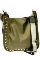Nylon Star Grommet Messenger Bag W/adjustable Stripe Web Strap