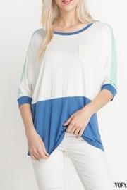 Colorblock Lace Longsleeve Top