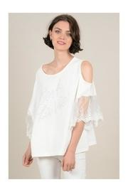 Openwork Shoulders Tunic