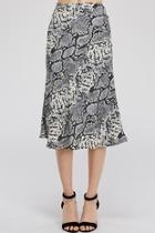 Snake-print Midi Skirt