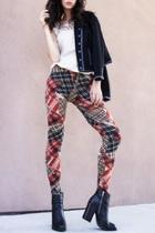Velour Plaid Leggings