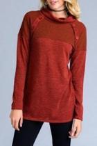 Rust Tunic Sweater
