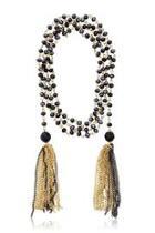 Midnight Tassel Necklace