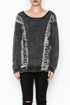 Mineral Wash Lace Sweatshirt