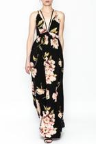 Printed Strapy Maxi Dress