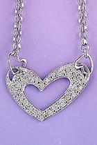 Diamond Chain Heart-necklace