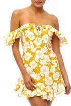 Floral Ruffle Mini-dress