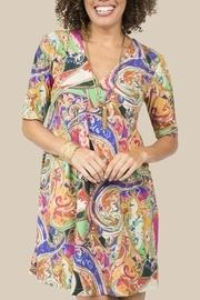 Side-pleated Knit Dress