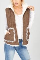 Reversible Quilted-fur Vest
