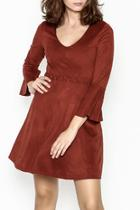 Faux Suede Rust Dress