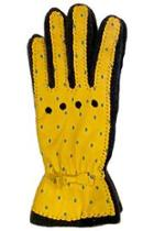 Yellow Dots Leather Glove