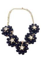 Black Floral Necklace