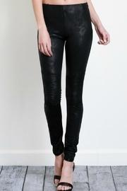 Faux-leather Moto Leggings