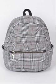 Grey Plaid Backpack