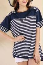 Stripe Shortsleeve Tunic