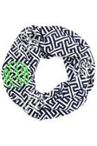 Monogrammed Infinity Scarf