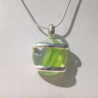 Green Swirl Pendant Necklace