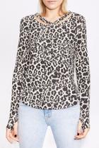 Leopard Cut-out Top