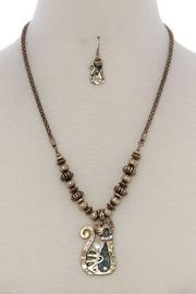 Cat Pendant Beaded-necklace