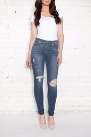 Distressed High-rise Skinnies
