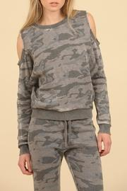 Coldshoulder Camo Sweater
