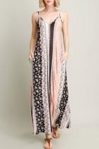 Printed V-neck Maxi-dress