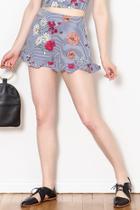Stripe Floral Shorts