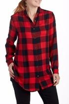 Plaid Blouse Tunic