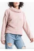 Cowl-neck Chenille Sweater