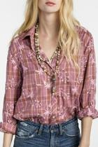 Embroidered Button Up Shirt